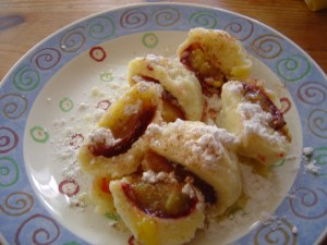 švestkové knedlíky - bramborové