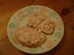 domácí hermelínová pomazánka na chlebíčky