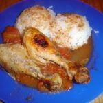 Pečená kuřecí stehna s rajčaty