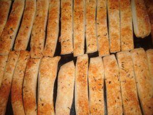 Tyčinky z tvarohového těsta - slané