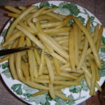 Žluté fazolové lusky