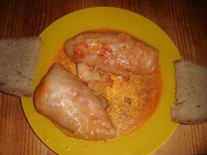Tradiční polské holoubky s pečivem